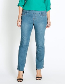 Katies Short Straight Leg Full Length Ultimate Denim Jeans
