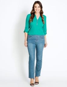 Katies Short Straight Leg Full Length Ultimate Denim Jeans