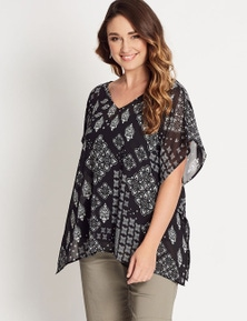 Katies V-Neck Kaftan With Cami