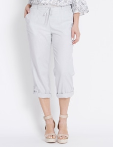 Katies 7/8 Turn Up Linen Pant