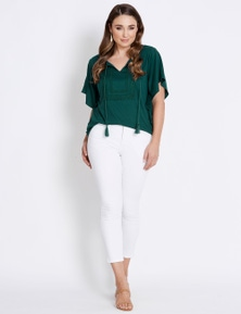 Katies Fly Front 7/8th Slim Jean