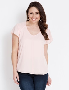 Katies Extended Sleeve V-Neck Top