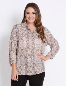 Katies Extended Sleeve Button Placket Top