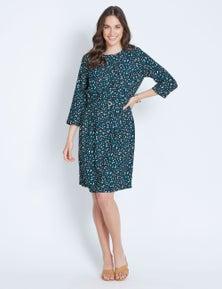 3/4  LEOPARD DRESS