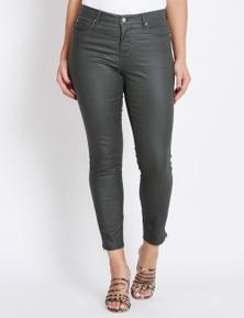 Katies Full Length Skinny Waxed Jean