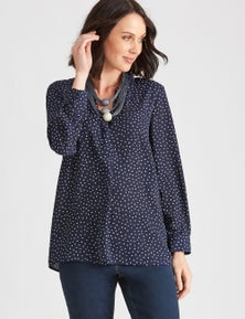 Katies Long Sleeve Button Through Shirt