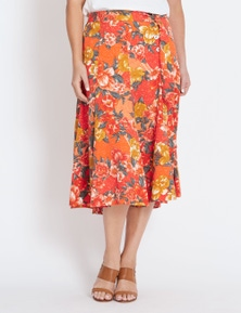 Katies Tie Waist Midi Skirt