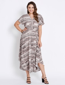 Katies V-Neck Hanky Hem Dress