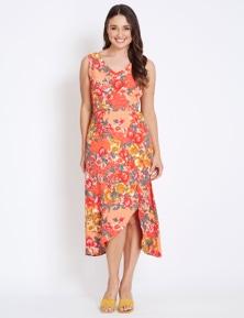 Katies Flounce Hem Dress