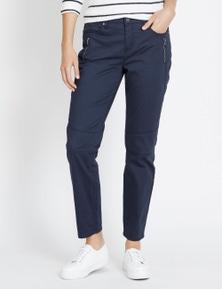 Katies 7/8 Skinny Zip Pant