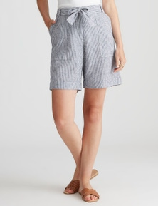 Katies Linen Tie Front Short