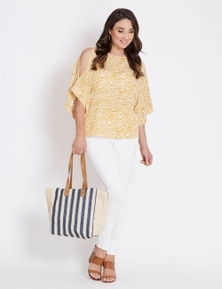 Katies Stripe Straw Tote