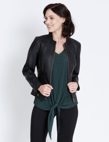 SEAMED PU JACKET