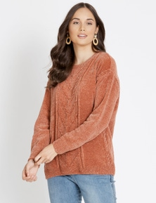 Katies Chenille Cable Knit Jumper