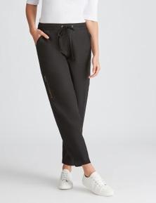 Katies Zip Detail Linen Pant