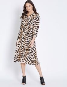 3/4 SLV SHIRT DRESS