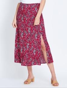 Katies Side Split Midi Skirt