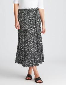 Katies Woven Midi Tiered Skirt