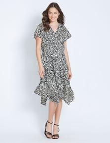 Katies Hanky Hem Midi Dress