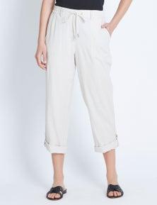 Katies Turn Up Linen Pant