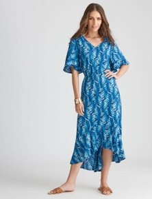 Katies Woven High Low Hem Dress