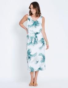 Katies V-Neck Linen Dress