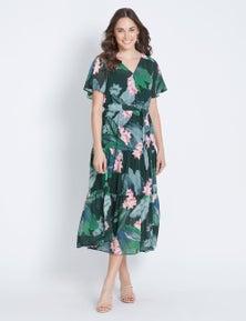 Katies V-Neck Tiered Dress