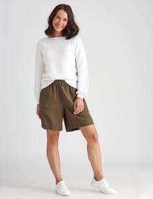 Katies Pull On Linen Short