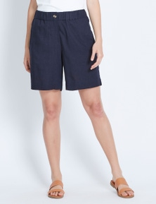 Katies Pull On Linen Short
