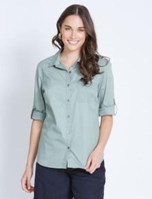 Katies 3/4 Sleeve Cotton Shirt