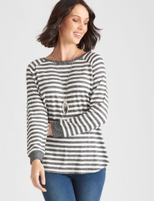 Katies Stripe Pretendy Raglan Jumper