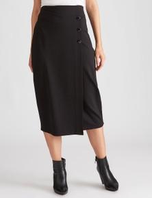 Katies Asymmetrical Wrap Ponte Skirt