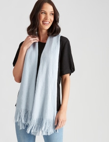 FEATHER KNIT SCARF