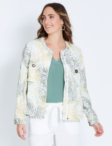 Katies Linen Bomber Jacket