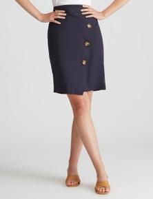 Katies Linen Knee Length Skirt