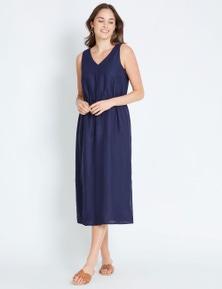 Katies Linen Maxi Dress