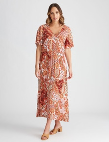 Katies Woven Faux Wrap Dress