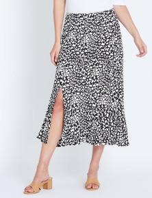 Katies Midi Flounce Skirt