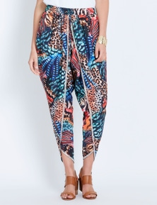 Katies Woven Ankle Wrap Pant