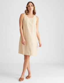 Katies Linen Cross Back Shift Dress
