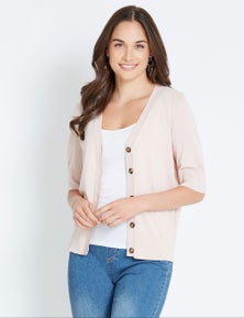 Katies Knit Button Front Cardigan
