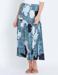 Katies Woven Drop Waist Midi Skirt