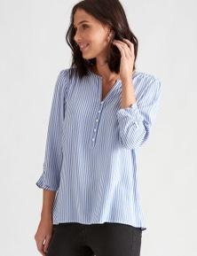 Katies Woven Half Placket Shirt