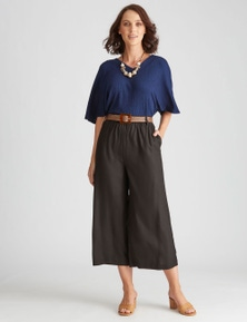 Katies Woven 7/8 Belted Pant