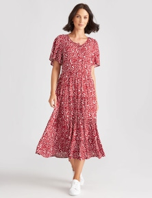 Katies Woven Tiered Dress