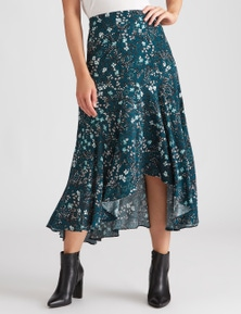 Katies Woven Belted Skirt