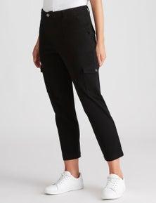 Katies Cotton Full Length Cargo Pant