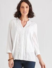 Katies Cotton Lace Trim Shirt