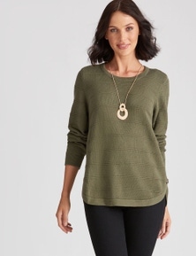 Katies Knit Side Button Jumper
