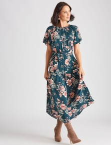 Katies Woven Flutter Sleeve Dress